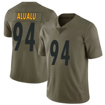 Youth Nike Pittsburgh Steelers Tyson Alualu Green 2017 Salute to Service Jersey - Limited
