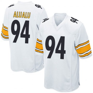 Youth Nike Pittsburgh Steelers Tyson Alualu White Jersey - Game