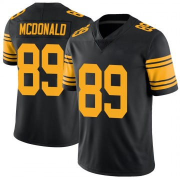 Youth Nike Pittsburgh Steelers Vance McDonald Black Color Rush Jersey - Limited