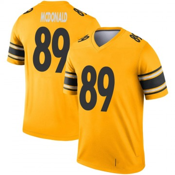 Youth Nike Pittsburgh Steelers Vance McDonald Gold Inverted Jersey - Legend