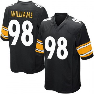 Youth Nike Pittsburgh Steelers Vince Williams Black Team Color Jersey - Game