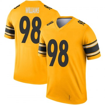 Youth Nike Pittsburgh Steelers Vince Williams Gold Inverted Jersey - Legend