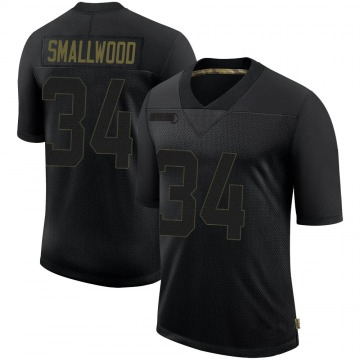 Youth Nike Pittsburgh Steelers Wendell Smallwood Black 2020 Salute To Service Jersey - Limited