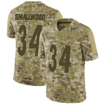Youth Nike Pittsburgh Steelers Wendell Smallwood Camo 2018 Salute to Service Jersey - Limited