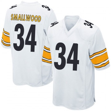 Youth Nike Pittsburgh Steelers Wendell Smallwood White Jersey - Game