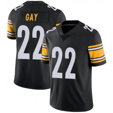 Youth Nike Pittsburgh Steelers William Gay Black 100th Vapor Jersey - Limited