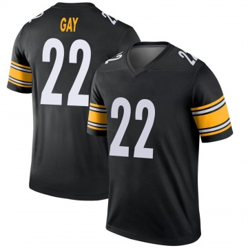 Youth Nike Pittsburgh Steelers William Gay Black Jersey - Legend
