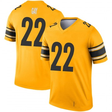 Youth Nike Pittsburgh Steelers William Gay Gold Inverted Jersey - Legend