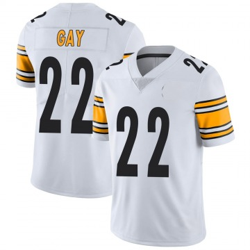 Youth Nike Pittsburgh Steelers William Gay White Vapor Untouchable Jersey - Limited