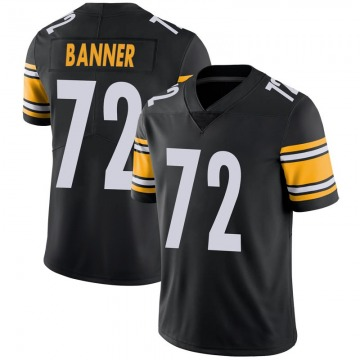 Youth Nike Pittsburgh Steelers Zach Banner Black 100th Vapor Jersey - Limited