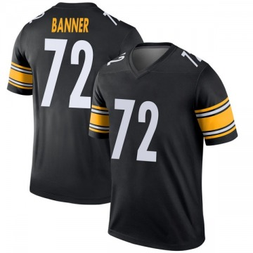 Youth Nike Pittsburgh Steelers Zach Banner Black Jersey - Legend