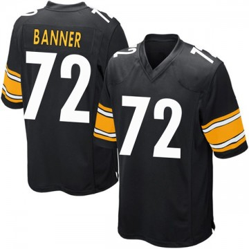 Youth Nike Pittsburgh Steelers Zach Banner Black Team Color Jersey - Game