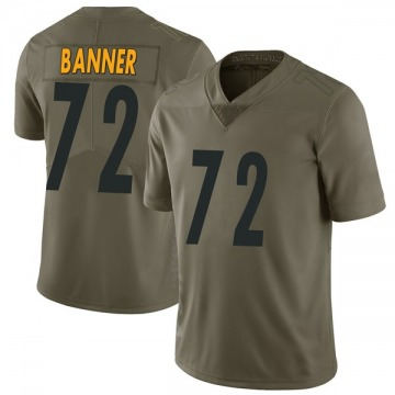 Youth Nike Pittsburgh Steelers Zach Banner Green 2017 Salute to Service Jersey - Limited