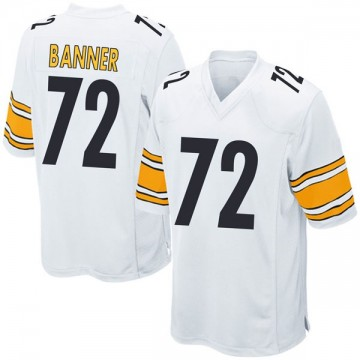 Youth Nike Pittsburgh Steelers Zach Banner White Jersey - Game
